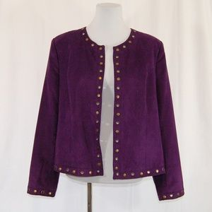🆕 Purple Single Hook Jacket with Metal Circles
